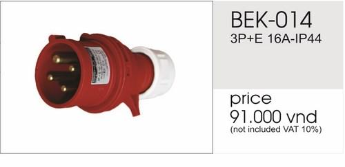 Giá phích cắm công nghiệp 4 chấu 16A không kín nước BEK-014