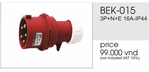 Giá phích cắm công nghiệp 5 chấu 16A không kín nước BEK-015