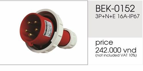 Giá phích cắm công nghiệp 5 chấu 16A kín nước BEK-0152