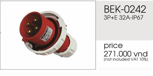 Giá phích cắm công nghiệp 4 chấu 32A BEK-0242