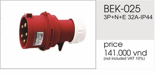 Giá phích cắm công nghiệp 5 chấu 32A không kín nước BEK-025