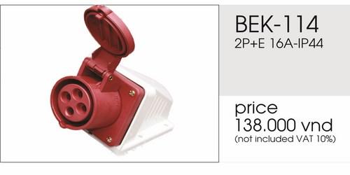 Giá ổ cắm nổi 4 chấu 16A không kín nước BEK-114