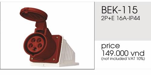 Giá ổ cắm nổi 5 chấu 16A không kín nước BEK-115