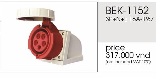 Giá ổ cắm gắn nổi 5 chấu 16A kín nước BEK-1152