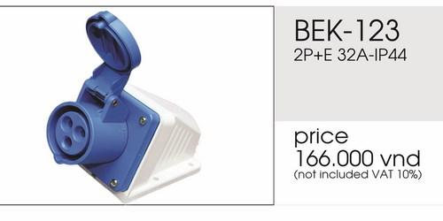 Giá ổ cắm nổi 3 chấu 32A không kín nước BEK-123