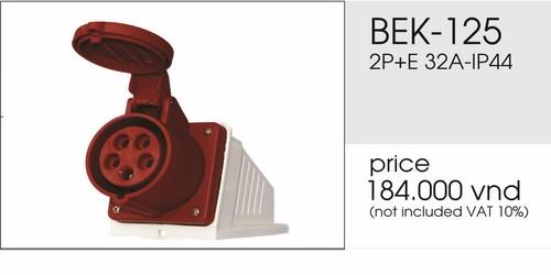 Giá ổ cắm nổi 5 chấu 32A không kín nước BEK-125