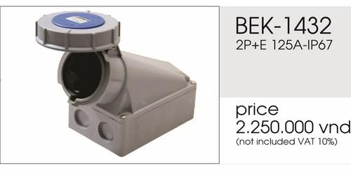 Giá ổ cắm gắn nổi 3 chấu 125A kín nước BEK-1432