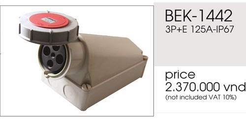 Giá ổ cắm gắn nổi 4 chấu 125A kín nước BEK-1442