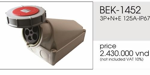 Giá ổ cắm gắn nổi 5 chấu 125A kín nước BEK-1452
