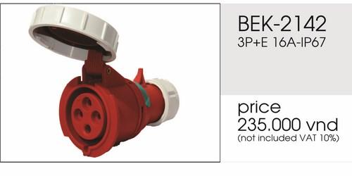 Giá phích nối 4 chấu kín nước 16A BEK-2142