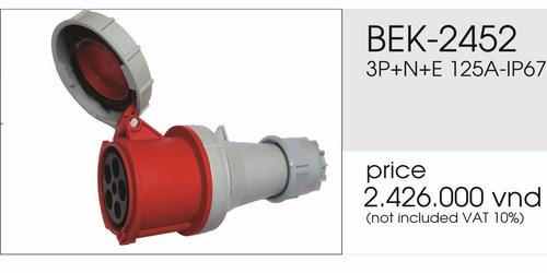 Giá phích nối 5 chấu 125A kín nước BEK- 2452