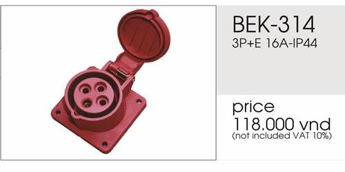 Giá ổ cắm âm 4 chấu 16A không kín nước BEK-314