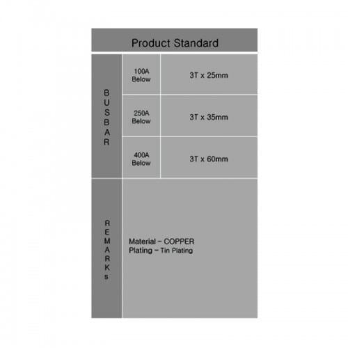 Distribution main busbar