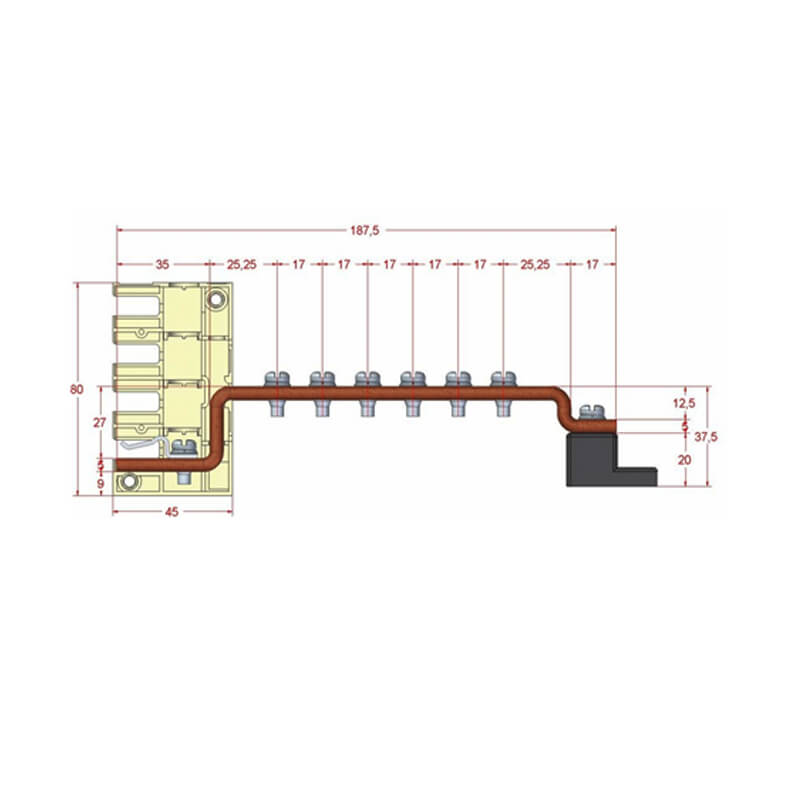 Smart busbar 6T-Earth busbar 250AF