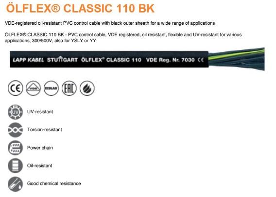 Cáp điều khiển Olflex Lapp Kabel