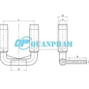 Bản vẽ kỹ thuậtCosse ép chuyển tiếp 2 dây dẫn SSY Compression 90°