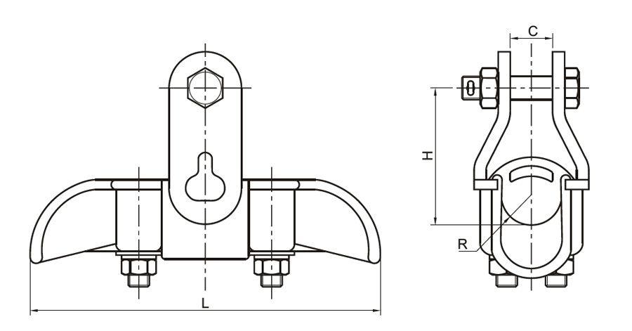 Hình 1: Khóa đỡ dây ACSR (XGZ) (Ảnh: quanpham)