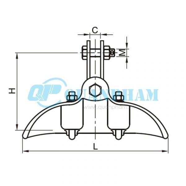 Khóa đỡ dây Suspension Clamps (type CF) 1