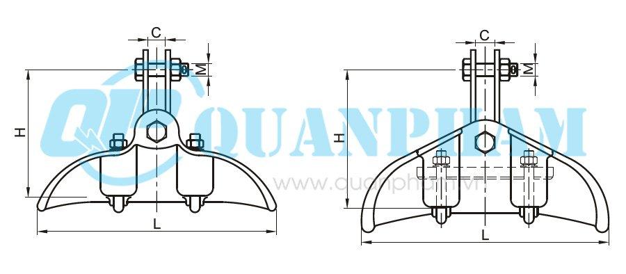Hình 1: Khóa đỡ dây (CF) (Ảnh: quanpham)