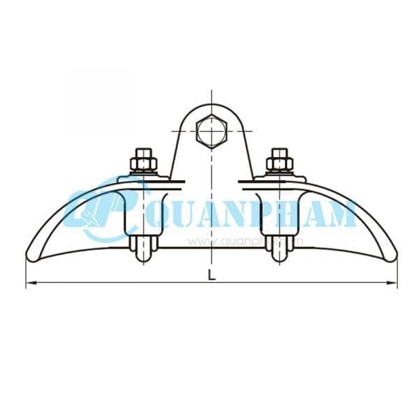 Khóa đỡ dây Suspension Clamps (type XGF – hang down) 1