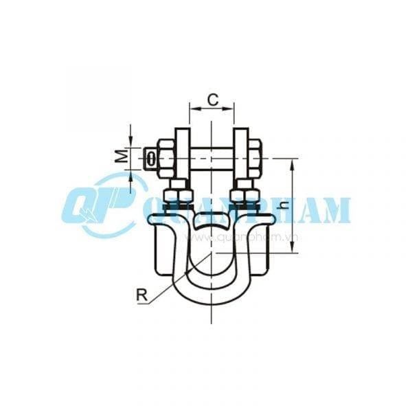 Khóa đỡ dây Suspension Clamps (type XGF – hang down) 2