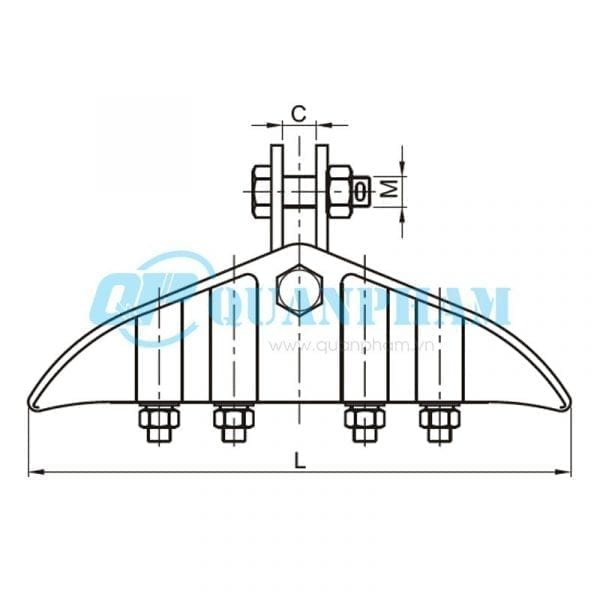 Khóa đỡ dây Suspension Clamps (type XGJ) 1