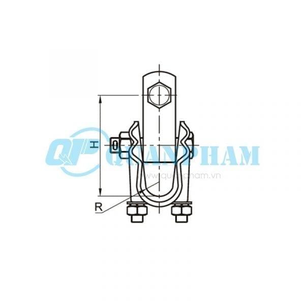 Khóa đỡ dây Suspension Clamps (type XGJ) 2