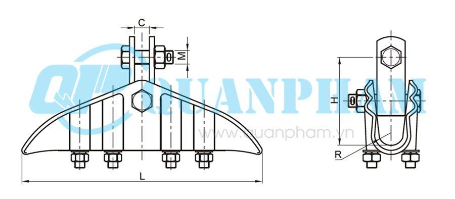 Hình 2: Khóa đỡ dây (XGJ) (Ảnh: quanpham)