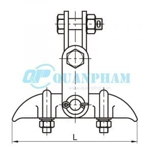 Khóa đỡ dây Suspension Clamps (type XGU - with clevis) 1