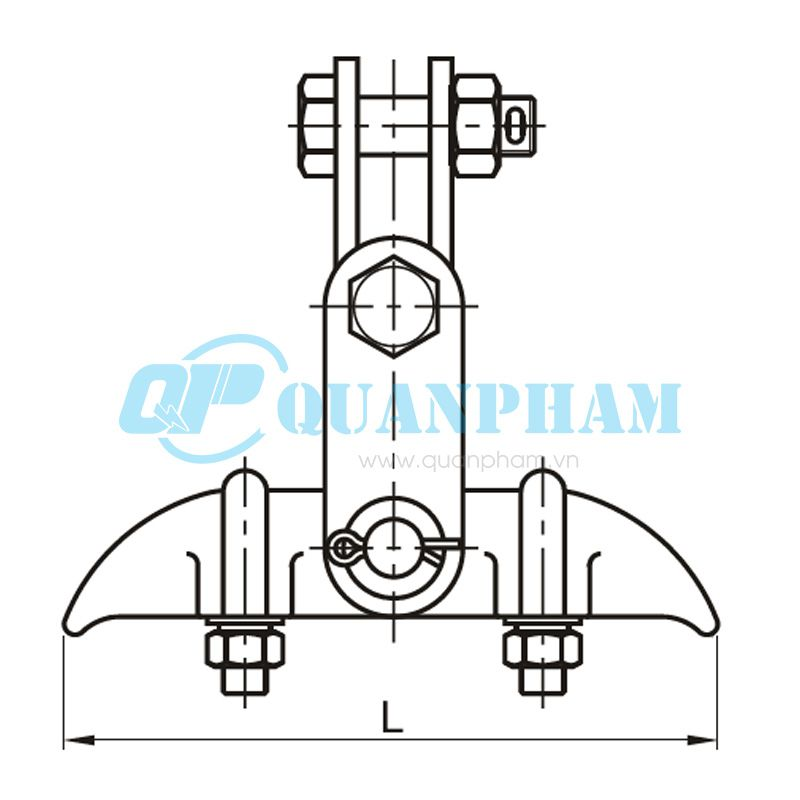 Khóa đỡ dây Suspension Clamps (type XGU – with clevis) 1