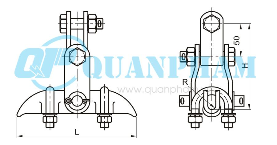 Hình 1: Khóa đỡ dây (XGU - With Clevis) (Ảnh: quanpham)