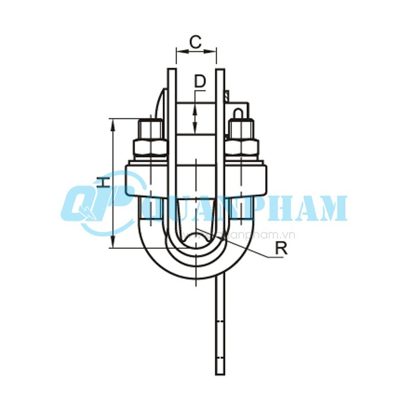 Khóa đỡ dây chống sét Suspension Clamps for Ground Wire (type DS – 7) 1