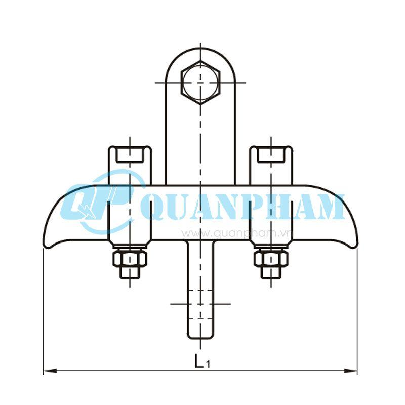 Khóa đỡ dây nhảy Suspension Clamps (type XTS – twin jumper conductors) 1