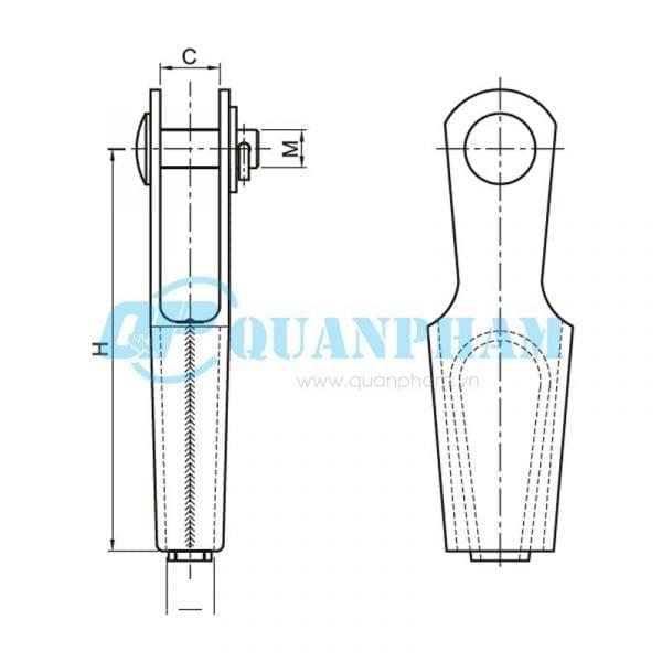 Khóa néo nêm cho dây chống sét Wedge Clamps for Ground Wire (type NN) 1