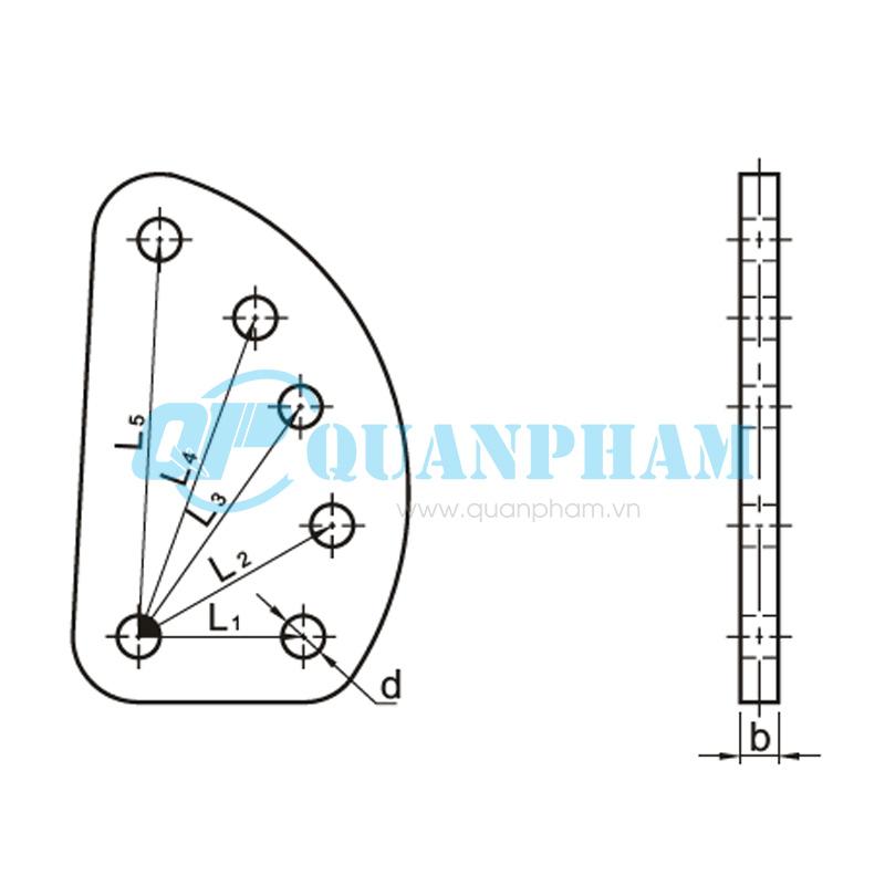 Mắc nối trung gian điều chỉnh Adjuster Plates (type DB) 1