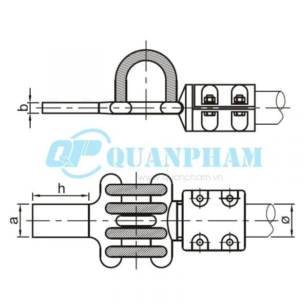 Thanh nối cái Flexible Clamps for Tubular Bus-bar (type MGS – 0°) 1