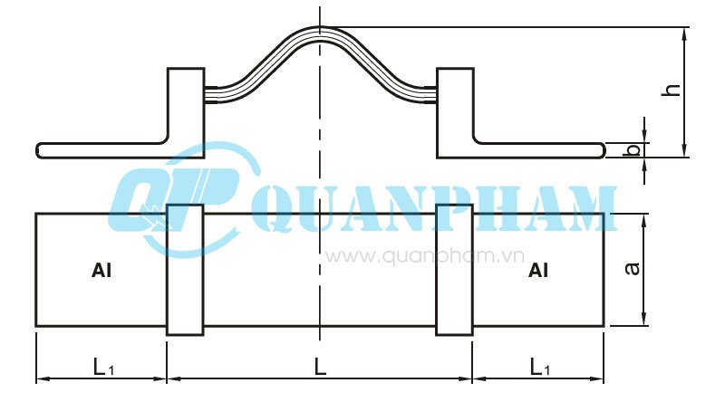 Hình 1: Thanh nối dẫn (nhôm - đồng) - MS1 (Ảnh: quanpham)