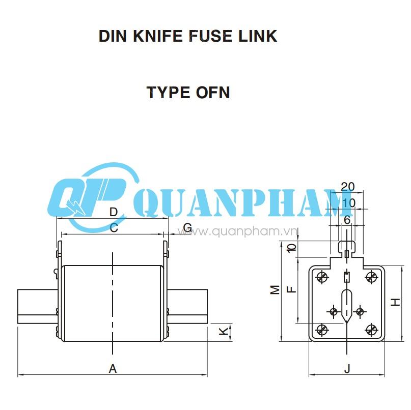 DIN KNIFE FUSE LINK 25A-630A