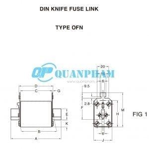 Cầu chì dao cách ly 6A - 160A