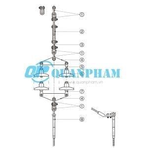 Chuỗi néo đôi cho dây ACSR AAC 120KN