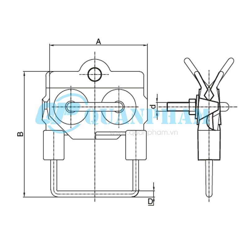 Hình 1: Bản vẽ kỹ thuật kẹp quai (Ảnh: quanpham)