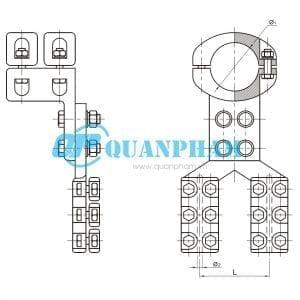 Kẹp rẽ nhánh dây dẫn Type MG/MR 90°