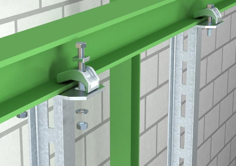 Kẹp truc tiep thanh treo thang máng cáp trên dầm thép