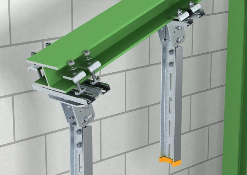 Kẹp thanh treo thang máng cáp trên dầm thép nghiêng