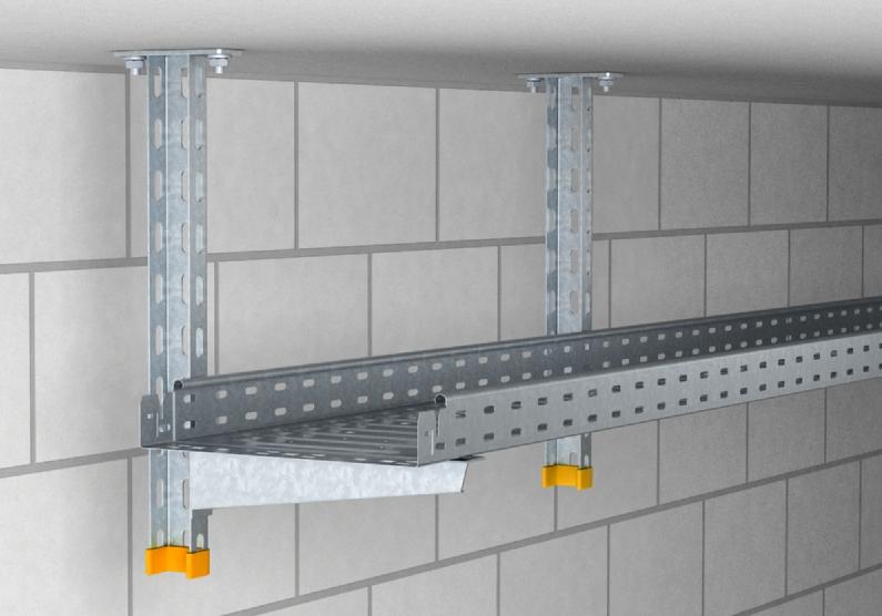 Khung treo trần kết hợp gắn tường